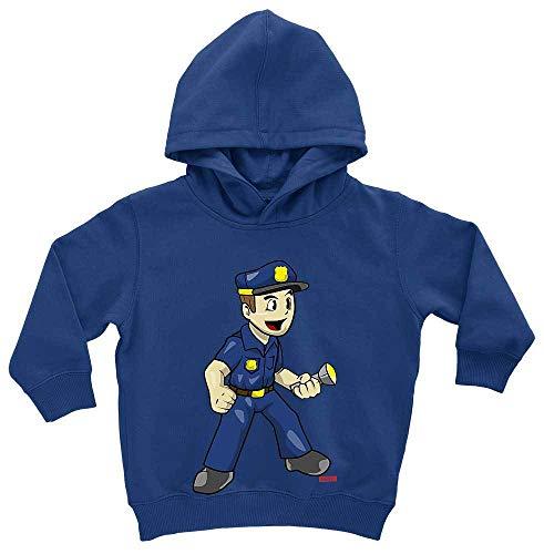 HARIZ Baby Hoodie Polizist Witzig Taschenlampe Polizei Cops Plus Geschenkkarten Royal Königs Blau 1-2 - König Geburt Kostüm