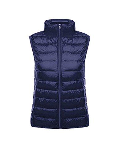 BELLOO Damen Outdoor Weste leicht zusammenklappbar Daunenweste,Marinenblau,XL