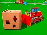 Lernen geometrische Formen mit roter Bulldozer