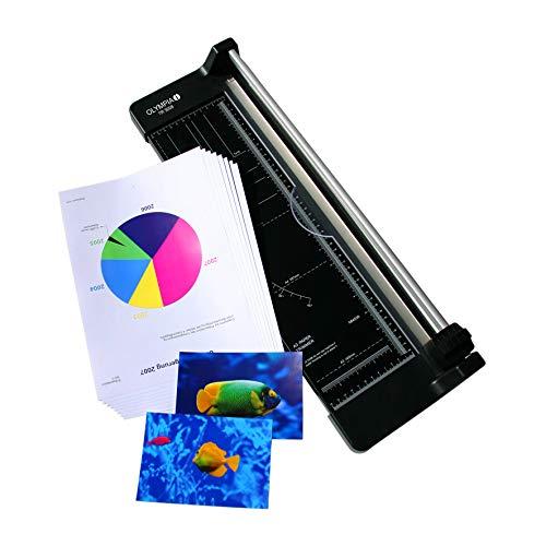 Olympia TR 4608 Schneidemaschine für Papier (DIN A3, Papierauflage, Positionierhilfe, Papierschneider für Büro, Hochwertiges Papierschneidegerät mit Lineal)