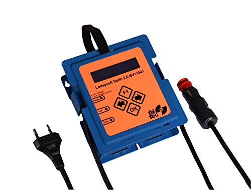 Ladegerät für 12V Fahrzeugbatterien - Ladeprofi Vario 2.0, Hochleistungs-, Diagnose- und Ladegerät mit digitaler Strom-, Spannungs- und Ladefortschrittsanzeige für fast alle Batterietypen wie LiFePo4, Rein-Blei-Zinn, Gel, AGM, EFB und Blei Batterien. Überwacht und pflegt den Akku. Winterlademodus mit Engeriesparfunktion. Mikroporzessorgesteuert, kurzschlussfest, mit Verpolungsschutz für eine längere Batterielebensdauer.