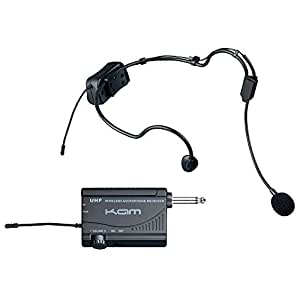 Kam KWM1900 HS - UHF Wireless Headset Microphone System Ideal For Aerobics, Churches, Schools