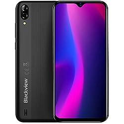 Télephone Portable débloqué Blackview A60 3G Android 8.1 Dual SIM - 6,1 Pouces (19,2: 9) Plein écran Smartphone, Quad Core 1,3 GHz 1 Go + 16 Go, 5MP + 13MP Double caméra, Batterie 4080mAh GPS - Noir