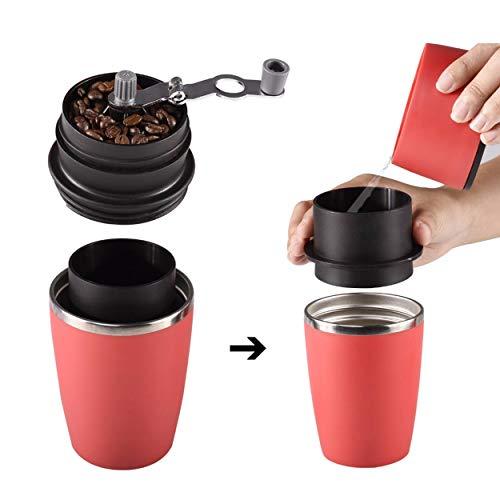 Lorenlli Multifunktionale Tragbare Manuelle Kaffeemühle Hand Druck Design Edelstahl Home Kitchen Kaffeemühle Maker