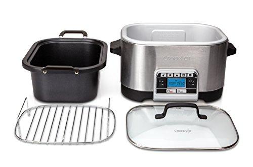 41VsNCJ6N8L - Crock-Pot Multi-Cooker, Programmable with Slow Cooker, Saute, Roaster and Food Steamer, 5.6 Litre (6-7 People), Removable Bowl [CSC024]