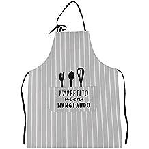 IBLUELOVER Delantal de Cocina Barbacoa Salopettes Chef Delantal de café Trabajo Restaurant Bolsillo Grande Unisex Delantal