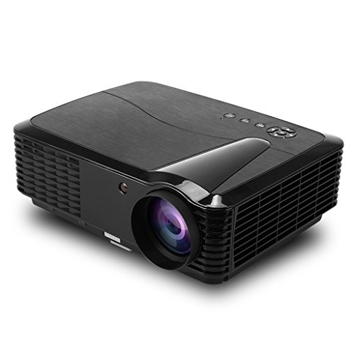 Excelvan RD-806 Proyector TV Digital (2800 Lúmenes HD, LED Multimedia Proyector, Cine Teatro Laptop HDMI, VGA, USB ,AV, TDT, 1280*800) -