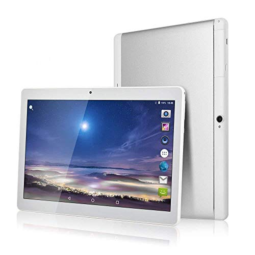 Google Android Tablet, 10,1-Zoll-Android Phone-Tablet, 3G-Dual-SIM-Kartensteckplätze, Octa-Core-Prozessor, 2,5 GHz, 64 GB Speicher (Silver)