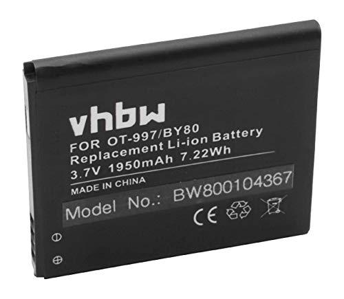 �r Handy Alcatel OneTouch 997, 997D, OT-997, OT-997D, OT-998, One Touch X Pop, TCL S710, TCL S800, Base Lutea 3 III wie TLiB32E. ()