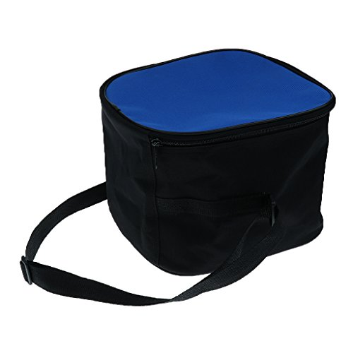 Sharplace Unisex Sporttasche Schultertasche Umhängetasche mit verstellbar Schulterriemen Balltasche für Basketball Fußball Volleyball - Blau