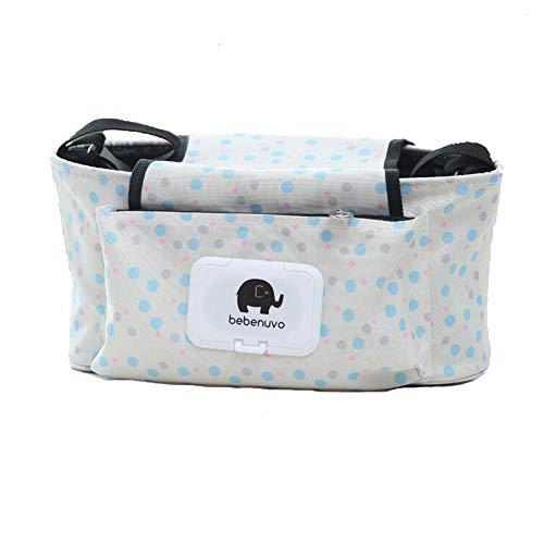 Sac poussette bébé premium Organisateur avec deux Porte-gobelet Isolé meilleur cadeau pour bébé Douche Bonus Crochets Bandoulière Universal Fit