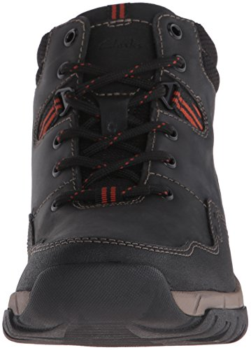 Clarks Mens Wallbeck Top Chukka Boot Black Leather
