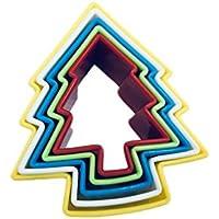 Lumanuby 5 pcs Molde para hornear Material plastico, forma de estrella de cinco puntas,