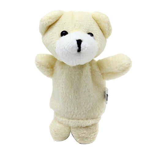VANKER marioneta del dedo de la felpa de mano Modelo de los juguetes 2 piezas (1 grande + 1 pequeña)--oso