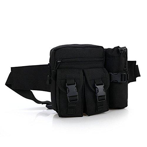 &zhou Kleine Taschen mit Wasserkocher für Verwendung im freien Männer und Frauen kombiniert Geldbörsen Bewegung Schulter Umhängetasche Black
