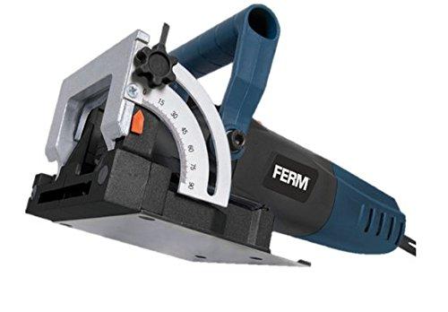 FERM BJM1009 Flachdübelfräse 900W - Mit 50 Lamellendeubel (Größe 20), Sägeblatt und Staubfangsack in einem Robusten Aufbewahrungskoffer