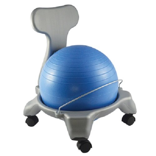 """CanDo 30-1795 Ball Chair, Plastic, Mobile with Back, Child Size with 14"""""""