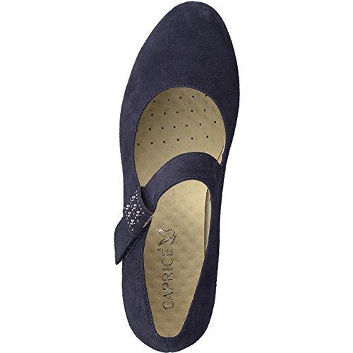 Caprice con Ocean Scarpe Blu 857 Donna Suede Tacco 22409 aaUqwg1