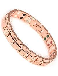 d60173f49790 YINOX Pulsera de Cobre magnético Saludable para Mujer con 5 Elementos ...