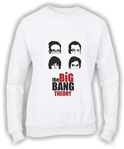 Felpa DONNA Girocollo BASIC top qualità top vestibilità - THE BIG BANG THEORY - divertente humor MADE IN ITALY Bianco