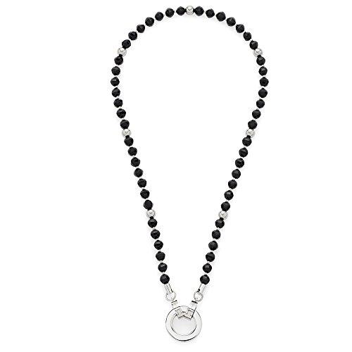 Leonardo Jewels Damen Halskette Darlin's schwarz Perla Edelstahl Glas 45 cm