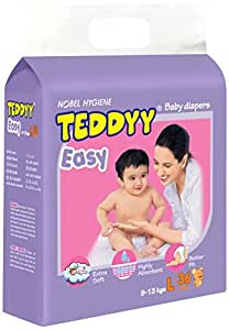 Teddyy Easy Baby Large Size Diaper (36 Count)
