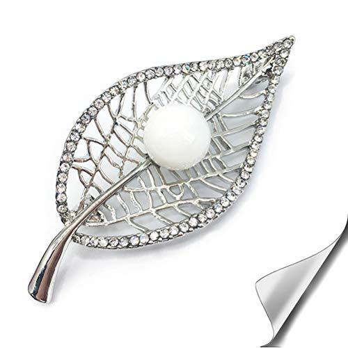 SIYWINA Broschen für Kleidung Brosche Hochzeit perlen Brosche Blätter Strass Brosche Schmuck