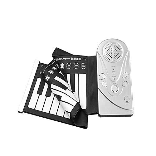 Kaiyitong Portable Keyboard, 49 Tasten Hand Roll Piano Erweiterte Silikon, Einbauschränke Vergrößerungs Lautsprecher - geeignet for Kinder und Erwachsene, das Klavier Educate , Starke Leistung