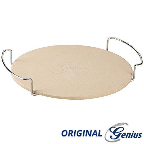 Genius BBQ Pizzastein mit Gestell | 32 cm Durchmesser | Barbecue Pizza-Stein | NEU