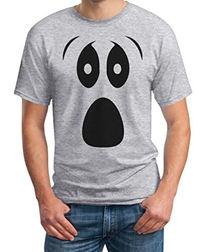 Grusel Kostüm Halloween Kostüme Herren T Shirts Ghost Face Herren T-Shirt Small Grau (Holloween Für Männer Kostüme)