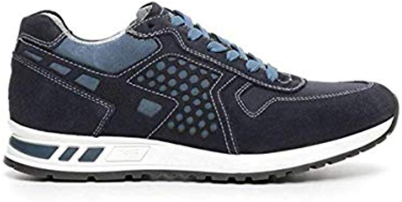 Nero Giardini scarpe da ginnastica Uomo in Tela Blu Blu Blu P704901U 200 | Diversificate Nella Confezione  b2b1a4