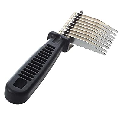 TOOGOO(R) Pet Puppy Dog Cat Hair Grooming Brush Comb Dematting Tool Black New by SODIAL(R)