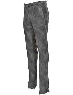 Incotex Pantalón Hombre 50 Gris oscuro lana ajustado Corte delgado