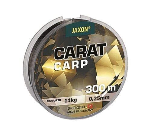 Jaxon Angelschnur Carat CARP 300m Spule Monofile Karpfen Schnur (0,25mm / 11kg)