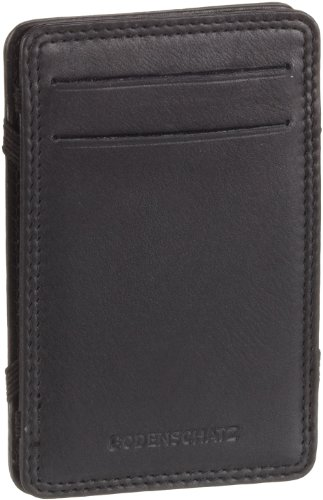 Bodenschatz Kings Nappa 8-618 KN 01, Unisex - Erwachsene Portemonnaies 7x11x1 cm (B x H x T) Schwarz (Black)