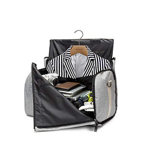 PUDDINGHH® Suit Bag, Suit Travel Bag Carrier Gepäck, umwandelbar in Reisetasche, Weekendight Flight Bag mit abnehmbarem Schultergurt, Kleidersack und Schuhbeutel,Black