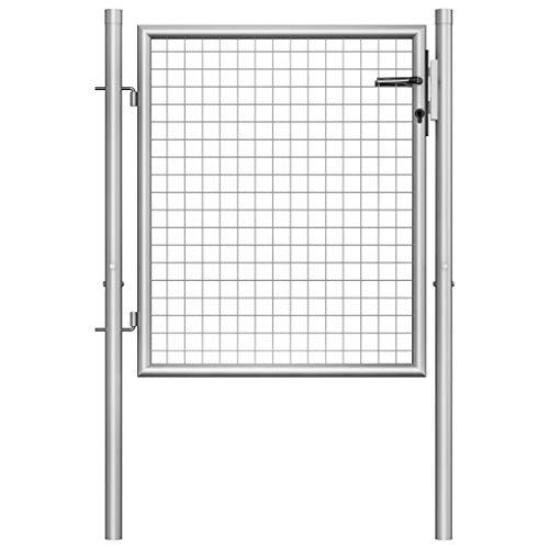 vidaXL Gartentor Verzinkter Stahl 105×125 cm Silbern