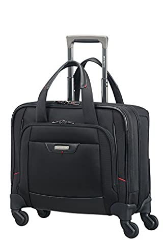 Samsonite Pro-DLX 4 Spinner Rolling Tote Hand Luggage, 45 cm, 23 Liters, Black