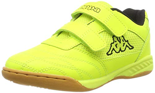 Kappa Unisex-Kinder Kickoff OC Kids Sneaker, Gelb (Yellow/Black 4011), 33 EU