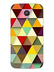 Moto E Back Cover - Crazy Triangles - Pattern - Designer Printed Hard Shell Case