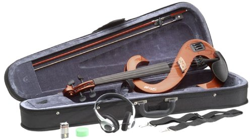 Stagg EVN 4/4 VBR - Set violino elettrico con HD phone/Softcase Violinburst