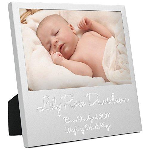 Preisvergleich Produktbild New Baby Boy Girl Geschenk Bild 15,2x 10,2cm Erste 1. Foto Display Rahmen personalisierbar Geburt Details–Jeden Sprache