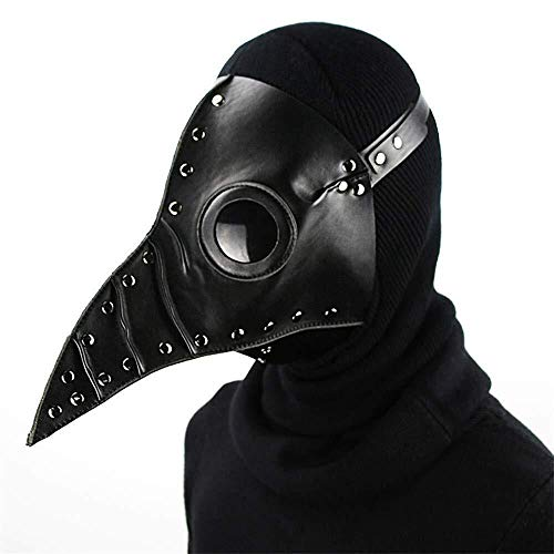 Arzt Voodoo Kostüm - Maske Halloween Steampunk Pest Arzt Cosplay Halloween Festival Party liefert Leder