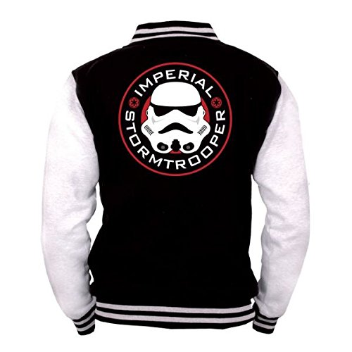 Star Wars Imperial - Stormtrooper Giacca college nero/bianco XL