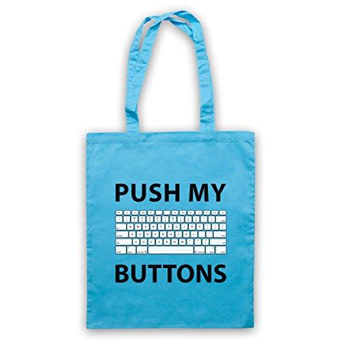 Push My Buttons Computer Geek Umhangetaschen Hellblau