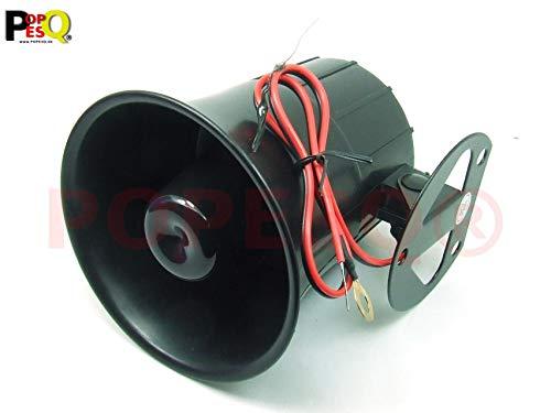 POPESQ® 1 Stk. x Alarm Sirene 118dB 105mm 12V 6 Töne #A2620 Sirene 20w