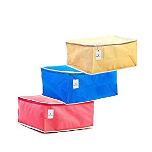 Kuber Industries Non Woven Saree Cover Set Of 3 Pcs, Regular Clothes Bag