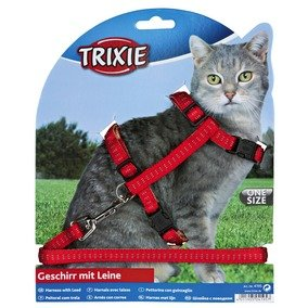Nylon Cat Harness And Lead Set Collar Adjustable by Trixie