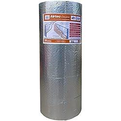 Airtec Airtec Film isolant double multicouche à bulles 1200 mm x 25 m x 7,2 mm