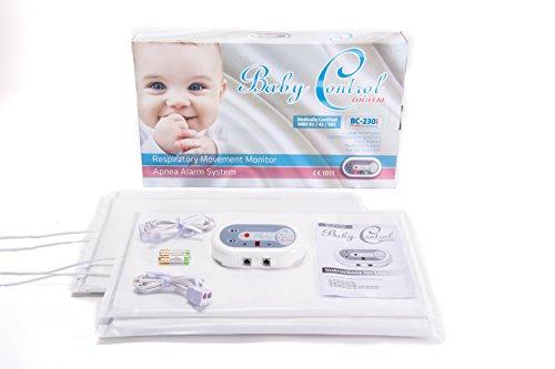 Bebé Monitor de apnea de respiración con Digitalmente ajustable Sensibilidad Talla:Complete with 3 x Sensor Pads